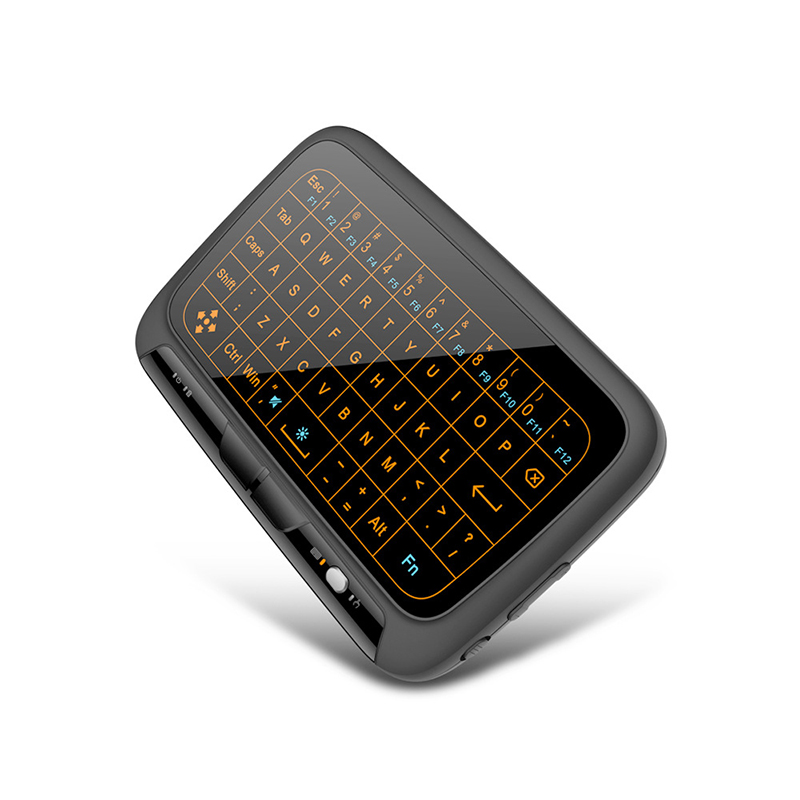 H18 2.4GHz Wireless Full Touchpad Backlit Keyboard Air Mouse tv Remote Control For Windows PC Android TV Box HTPC for Google Pad neworig keyboard bezel palmrest cover lenovo thinkpad t540p w54 touchpad without fingerprint 04x5544