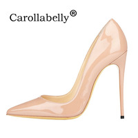 Carollabelly Shoes Woman High Heels Wedding Shoes Black Nude Women Pumps Pointed Toe Sexy High Heels Shoes Stilettos Party Shoes