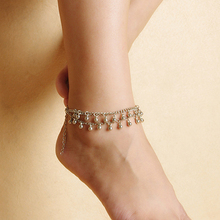 Sexy Bead Tassels 2 Layers Anklet Beach Sandal Dance Yoga Ankle Chain Foot Bracelet  9P2Y