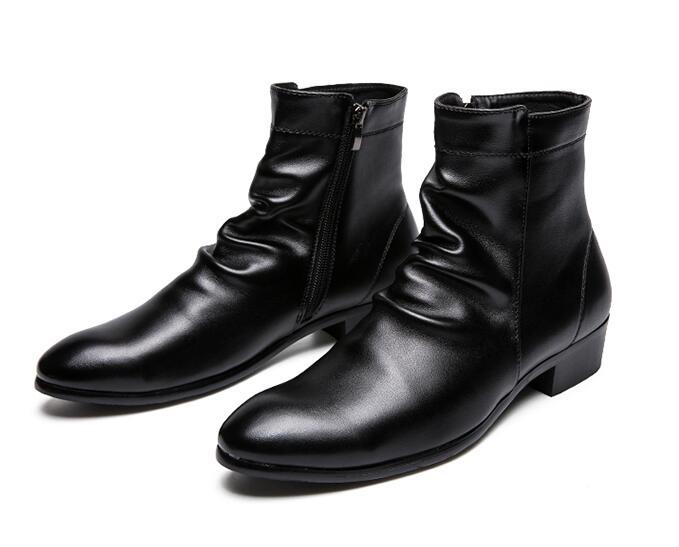 De automne Lion Tête Chaussures En Robe Hommes D'affaires Bottes Printemps Doublure Fourrure Classique Cuir Britannique black1 Formelle Black wYX81qzw