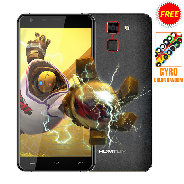 Ht30 homtom smartphone 5.5 polegada android 6.0 mtk6580 quad core 1 GB de RAM 8 GB ROM 8MP Camera Scanner de Impressão Digital 3000 mAh Telefone OTA
