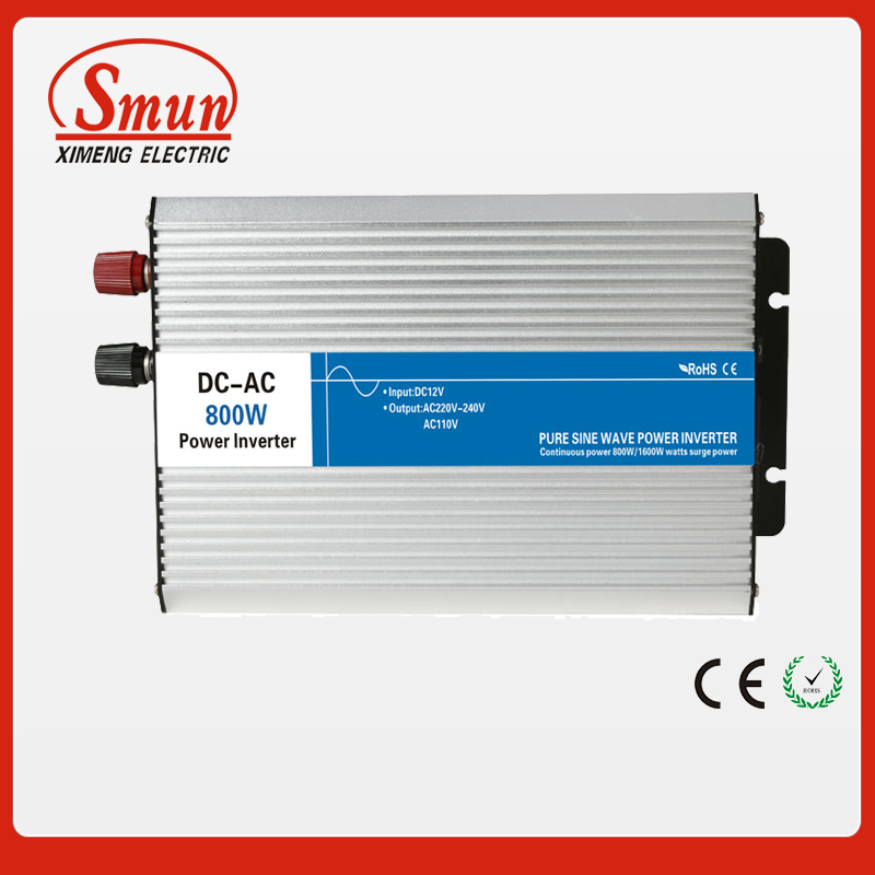 800W 12VDC to 220VAC Off Grid Pure Sine Wave Inverter For Home Appliances