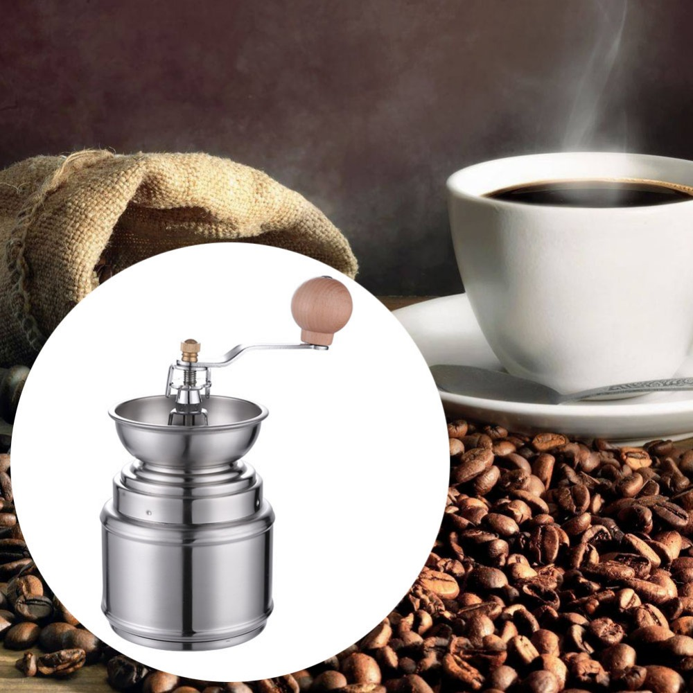 Stainless Steel Manual Coffee Grinders Manual Coffee Bean Grinder Spice Pepper Burr Mill Kitchen Mini Manual Hand Coffee Grinder portable coffee grinder stainless steel ceramic burr hand crank manual coffee grinder for coffee lovers mini hand mill for home
