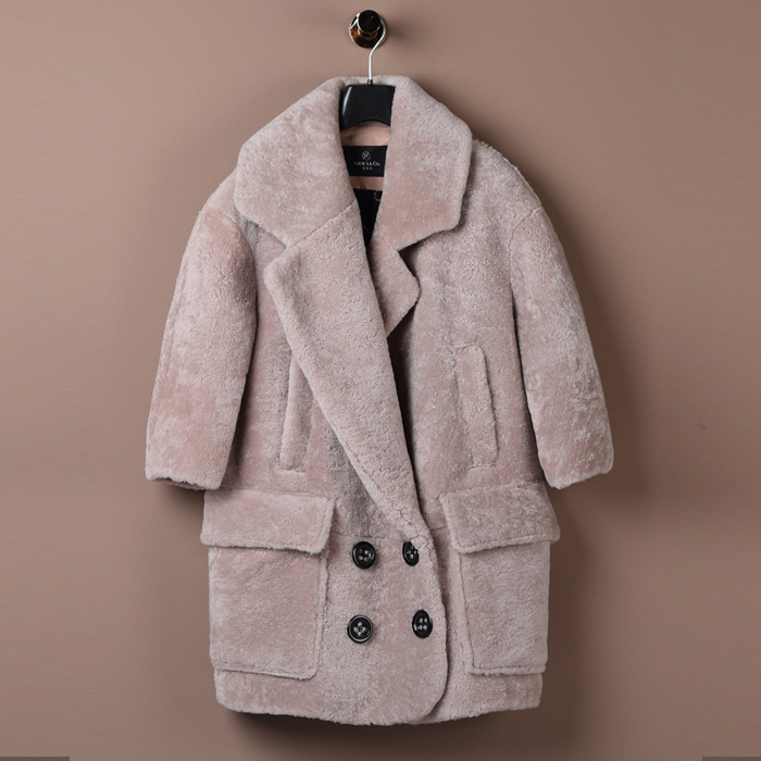Aliexpress.com : Buy Vintage Genuine Shearling Fur coats Breasted
