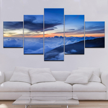 Modern HD Print Wall Art Frame Canvas Pictures 5 Piece Sunset Cloud Layer Mountain Abstract Landscape Painting Poster Home Decor