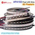 1m/5m APA102 60 leds/pixels/m ,Smart super led digital strip dream color, IP30/IP65/IP67/IP68 DATA and CLOCK seperately DC5V