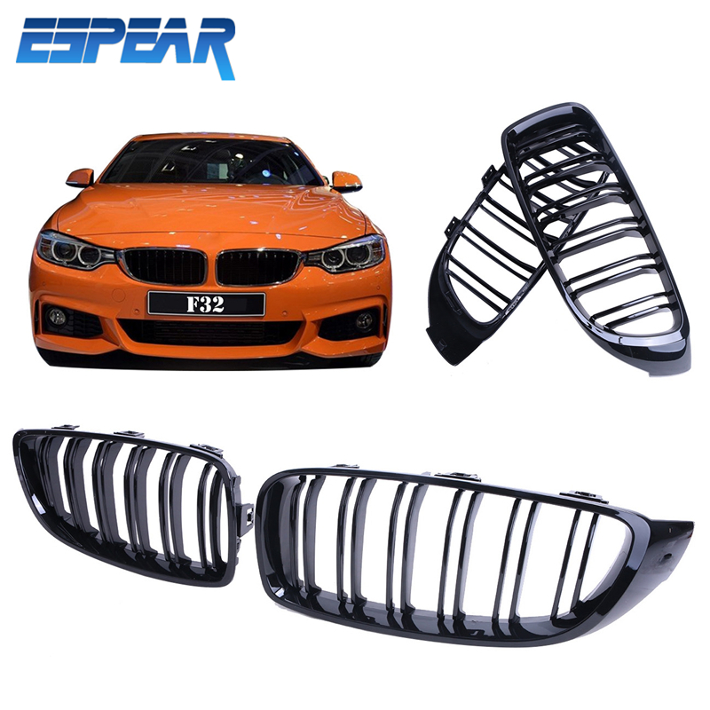 2X Front Grille M4 Look Kidney Grills for BMW 4-Series 435i 428i 2014 2015 High Quality Car Styling Accessory #9293 мини платье