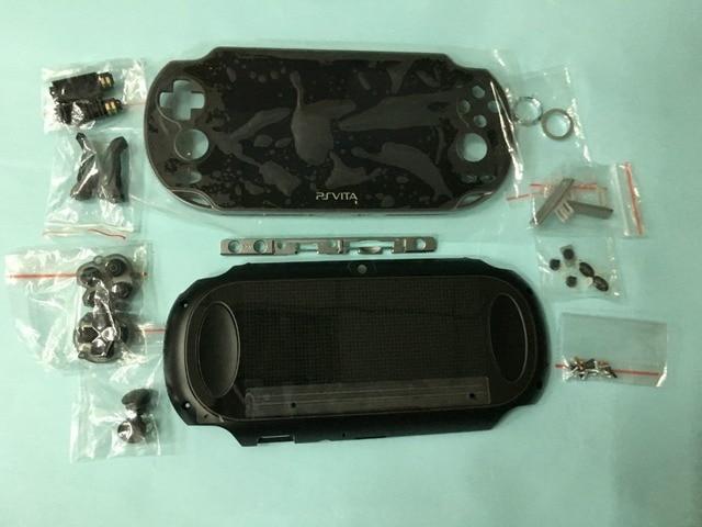 Di ricambio per psvita 1000 ps vita PSV 1000 lcd con touch screen montato con la struttura + back copertura della piastra frontale + piccole parti pulsanti