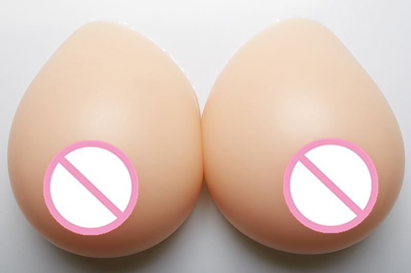Silicone False Breasts Boobs1600g/pair Left Right Artificial Breast Forms Silicone Prosthesis For Crossdresser