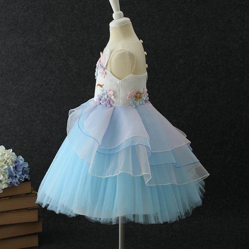 HTB1bQqQoeSSBuNjy0Flq6zBpVXaM New Girls Dress 3Pcs Kids Dresses For Girl Unicorn Party Dress Christmas Carnival Costume Child Princess Dress 3 5 6 8 9 10 Year