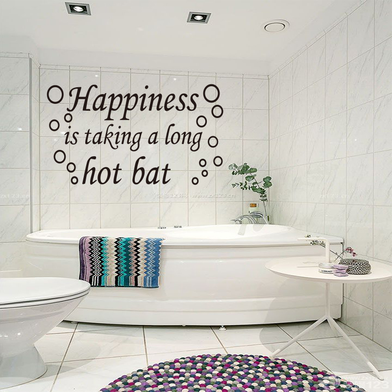 DIY Vinyl Wall Stickers for Bathroom Shower Room Happiness Bath Bubbles Mural Wall Decals Sticker Home Decor Decoration Wall Art