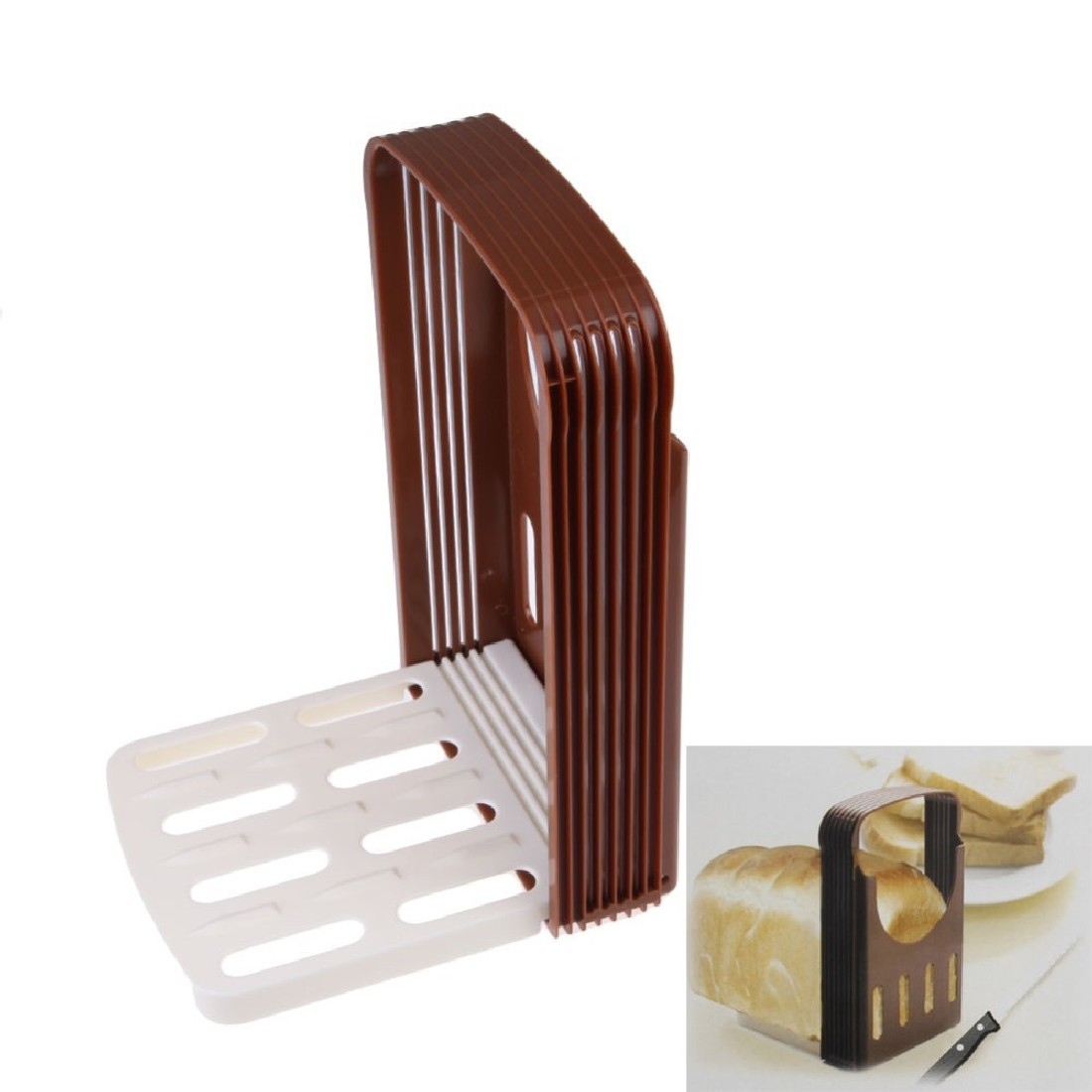 Cozinha DIY Ferramenta Pão Brinde Cortador de Pão Slicer Corte que Corta o Guia Prático Cor Aleatória Brotschneider Pan de corte