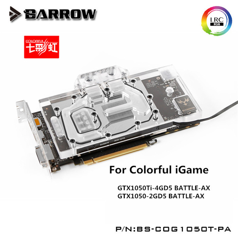 Barrow GPU Water Block For COLORFUL tomahawk GTX1050Ti/1050 Water Cooling Radiator BS-COG1050T-PA barrow gpu water block for colorful igame gtx1070 1060 water cooling radiator bs coi1070u pa