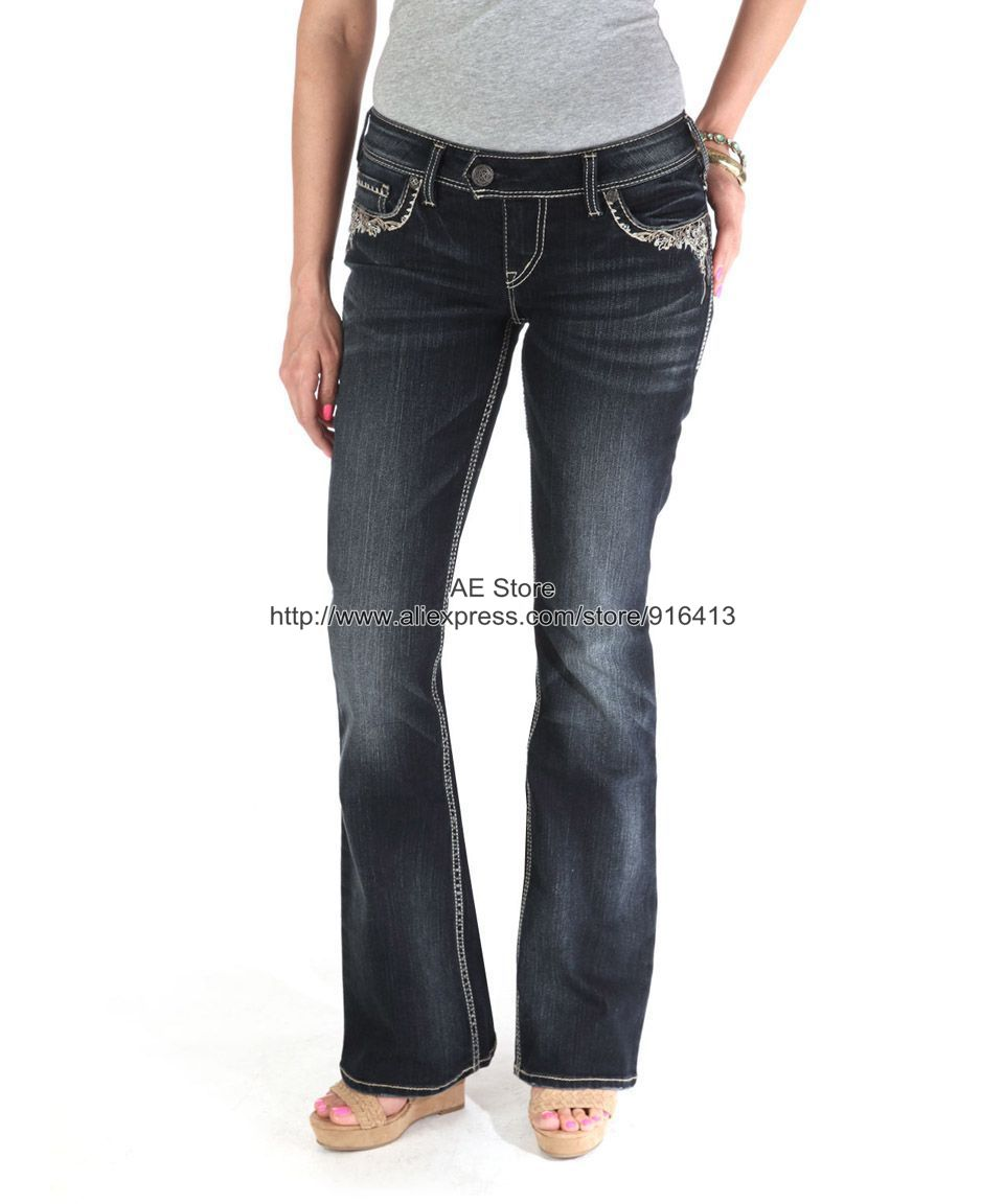 Online Get Cheap Silver Brand Jeans for Women -Aliexpress.com