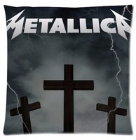 Customized Famous American Metal Rock Band Metallica Cross Lightning Arrow Pretty Nice Pillowcase Zippered Square Pillow