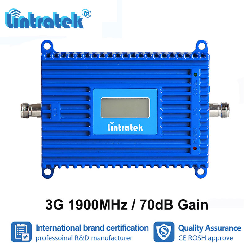 Lintratek 70dB Gain LCD Display 3G PCS 1900MHz Cell Phone Signal Booster UMTS 1900 Band 2 Repeater Amplifier 3G Internet S9-1Lintratek 70dB Gain LCD Display 3G PCS 1900MHz Cell Phone Signal Booster UMTS 1900 Band 2 Repeater Amplifier 3G Internet S9-1