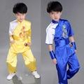 Традиционный Китайский Kongfu боевых искусств Для детей Взрослых Равномерное кунг-фу Костюм Костюмы Дети Взрослых Китайский Народный танец костюмы