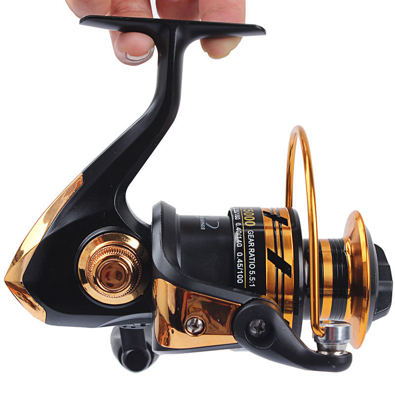 HOT SALE! Spinning reel fishing reel 2000 3000 4000 5000 5.5 1 spinning reel casting fishing reel lure tackle line K8356