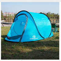 Waterproof Beach Camping Tent Throw Tent Outdoor 3 4 Persons Automatic Mountain Tent