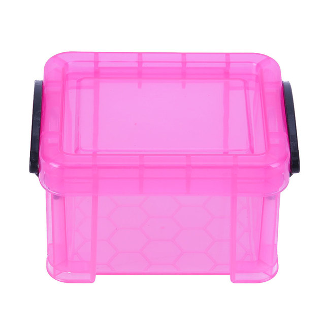 1 Pcs Plastic Storage Box Home Furnishing Trumpet Mini Lock Box Super Cute  Storage Boxes Make