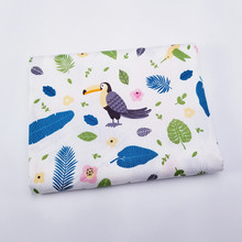hot deal buy 100% cotton fabric printed birds patchwork cloth for diy home textile material bed sheet soft cloth quilting child beding dolls