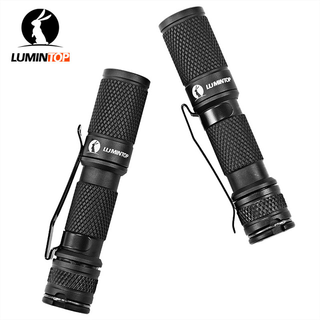 LUMINTOP  2PCS Mini Torch  Of  Magnet Tail  Reversible Clip Tool  with Cree XP-G2 Led AAA 110 Lumen EDC Keychain Flashlight