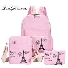 2017 New Women High Capacity Backpack With  School Bags For Teenagers Girls Backpacks Dots Printing Bookbag Cute Back Pack Q3