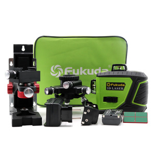 Fukuda New 3D 12 Green laser level 3D 12Lines laser level Self Leveling 360 Horizontal Vertical Cross Super Powerful|Laser Levels| |  -