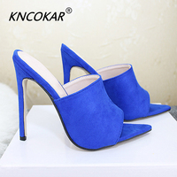 KNCOKAR Women Sandals Sexy High Heel Fashion Women's Shoes Fish Toe Ladies slippers x1127