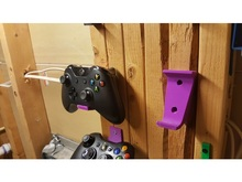 2pcs Wall Stand Holder Mount Bracket Dock Xbox 360 One Game Wireless Controller Gamepad Handle NS Pro PS4 Storage Base Color