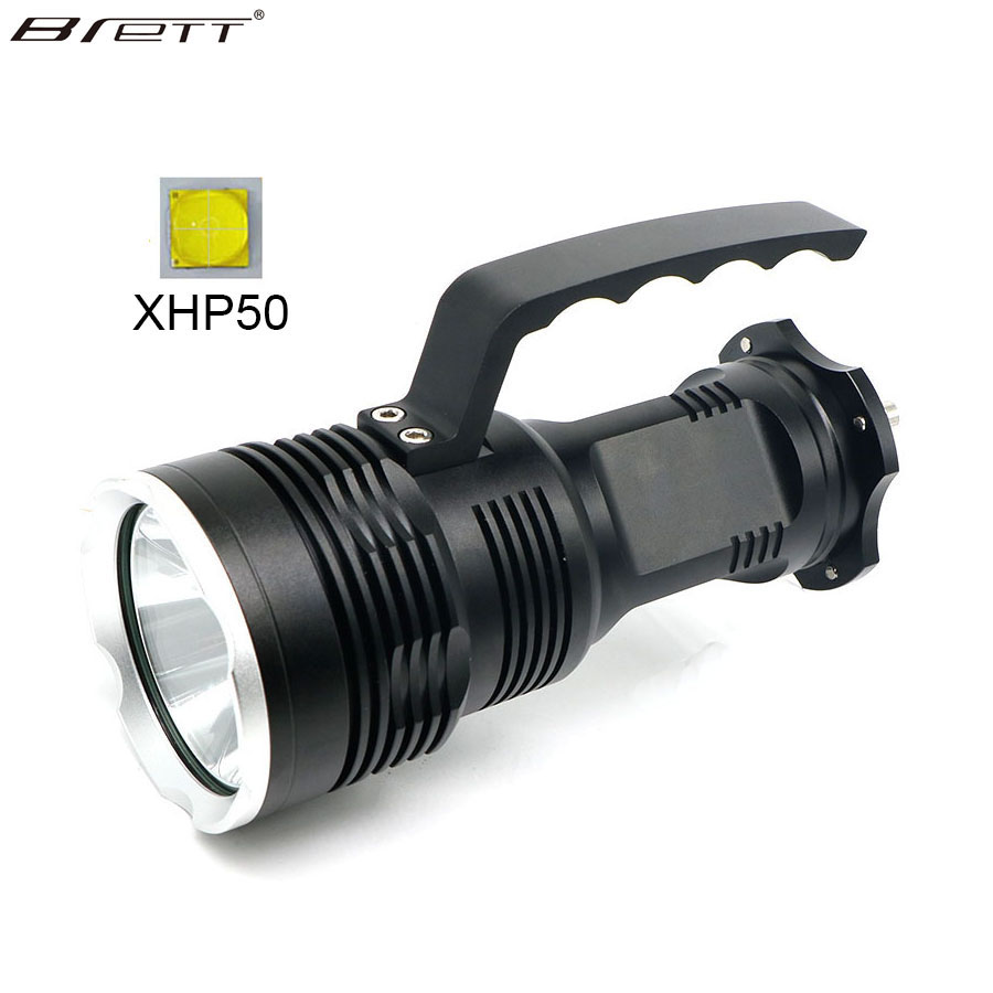 NEW LED Flashlight Portable Lighting XHP50 Highlight Long range Led Work Light Portable Rechargeable Spotlight for camping