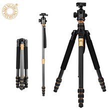 Профессиональные Выдвижной QZSD Q999C 62.2 Дюйм(ов) 430-1590 мм Углеродного Волокна Видеокамеры Штатив Монопод с Quick Release Plate