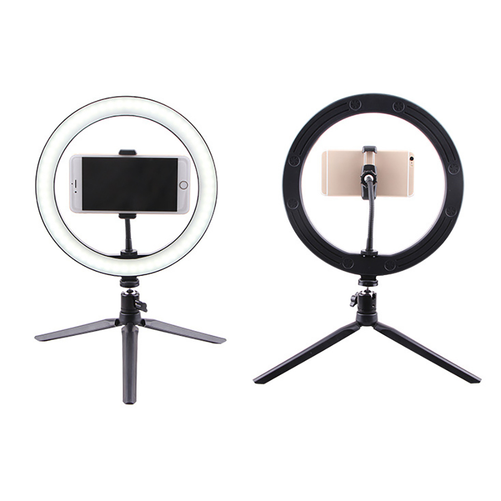 3 Colors Adjustable Beauty Fill Light Selfie Ring Light Led Video Light Usb Photo Filling Light With Cellphone Holder