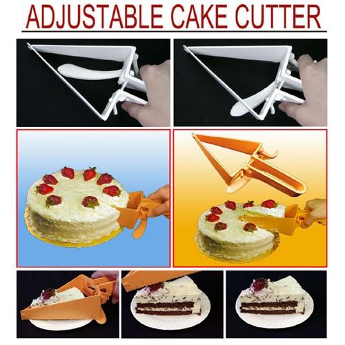 Ajustable Cake Pie Slicer Cortador Servidor Server Layer Rebanada con Soporte Se