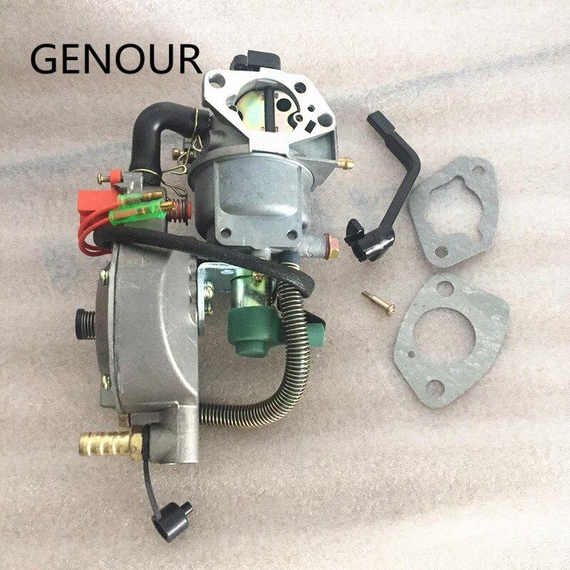 Carburateur manuel de gpl et de gnc de starter pour le KIT de CONVERSION de NG de gpl d'essence, carburateur de carburant du générateur 6KW 190F GX420 DAUL d'essence