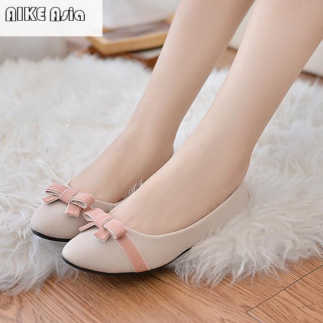 Venta Mejor 2018 Exquisita Zapatos Con Casual Photo photo Nueva Color Marca Color Arco Manera Asia Aike Planos Pies Mujer Mujeres De wqtCFF