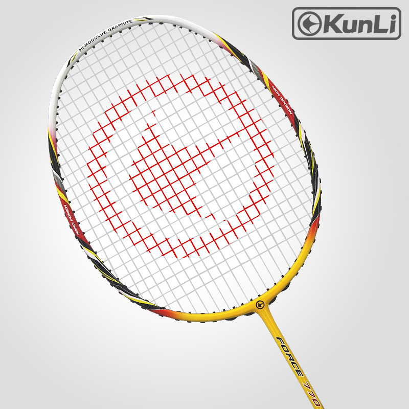 Original KUNLI Badminton Racket FORCE 770 Full Carbon 3U Professional TB NANO Technology Official Brand Racket Attack Racket