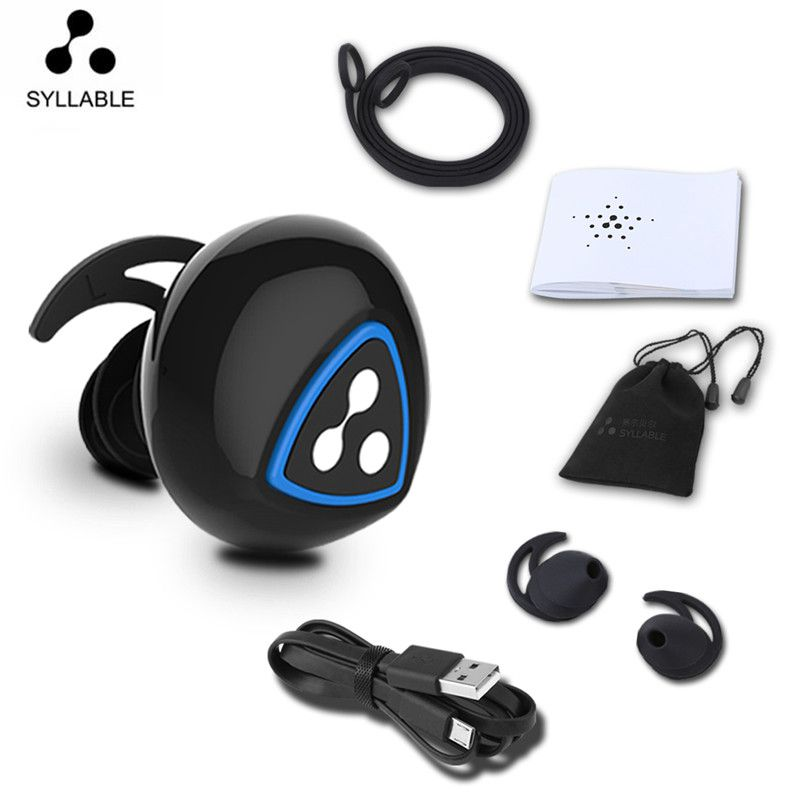 24 hour shipping Syllable D900S Earphone Wireless Bluetooth4.0 Apt-x IPX4 Waterproof Earbud Earphone Sports For Android iPhone 8 iphone 4 18 900