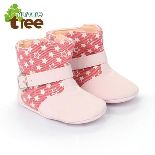 Venta de pieles cremallera Nurturetree recién nacido bebé suave suela de los zapatos de otoño 0-1 años el envío libre