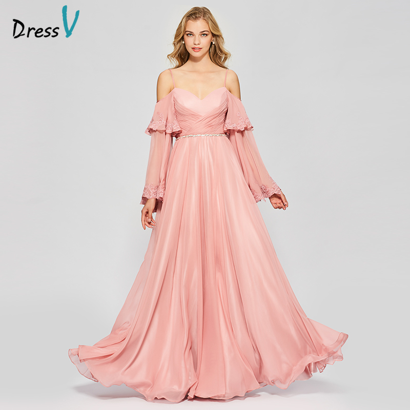 30 Exquisite Elegant Long Sleeved Wedding Dresses Chic: Aliexpress.com : Buy Dressv Elegant Pink Long Prom Dress