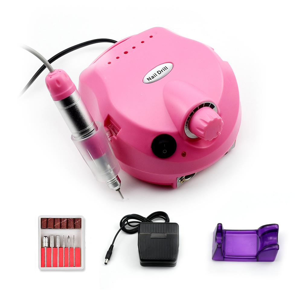 35000RPM Pro Electric Nail Drill Machine With 6 Nail Drill bit for Manicure Pedicure Manicure Drill Accessory Kit Nail tools in Electric Manicure Drills from Beauty Health