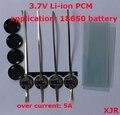 4 PCS/a lote 1 S 5A 4.2 V lipo bateria de Polímero de lítio BMS/PCM/PCB placa de circuito de proteção da bateria para 1 Packs 18650 Bateria Li-ion celular