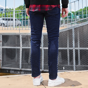 Image 4 - Pioneer Camp New arrival dark blue skinny men jeans brand clothing fashion feet pants male top quality denim trousers ANZ707023