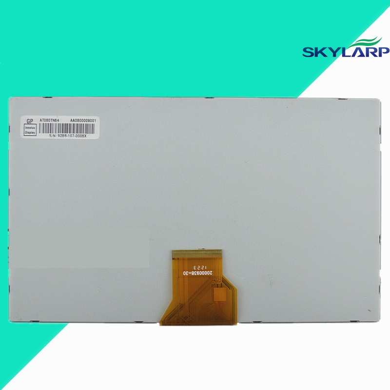 skylarpu New Original 8 inch TFT LCD screen for AT080TN64 GPS LCD display screen panel Repair replacement free shipping