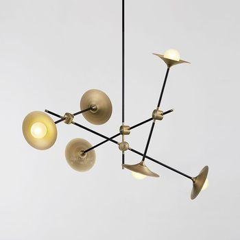 Postmodern Nordic Desainer Horn Lampu Gantung Kreatif Kepribadian Sederhana Lampu Chandelier Besi Seni Bar Ruang Tamu Kilau