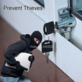 Escudo Janela BARATO fechamentos de janela de correr de alumínio janelas portas trava de segurança fechaduras fechaduras de segurança da janela de aço limite K67