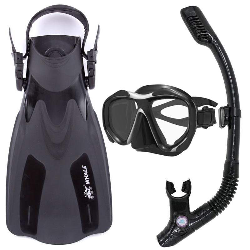 Baleine de haute qualité marque de plongée en apnée palmes de plongée sous-marine masque de plongée lunettes Flippers Sports nautiques équipement de plongée ensemble