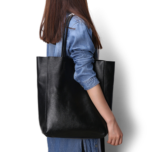 Image 3 - Genuine Leather Bag Women Shoulder Bag Shopping Bag Lady High Capacity Waterproof Parent subsidiary Casual Totes Zipper Handbag
