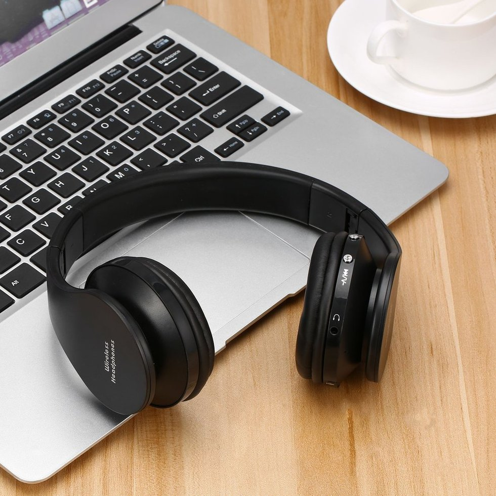 5PCS Bluetooth Headphones Foldable Wireless Stereo Bluetooth Headset Mic For iPhone PC Laptop Cellphone at bt809 foldable wireless bluetooth stereo headphone headset mic fm tf slot for iphone ipad pc