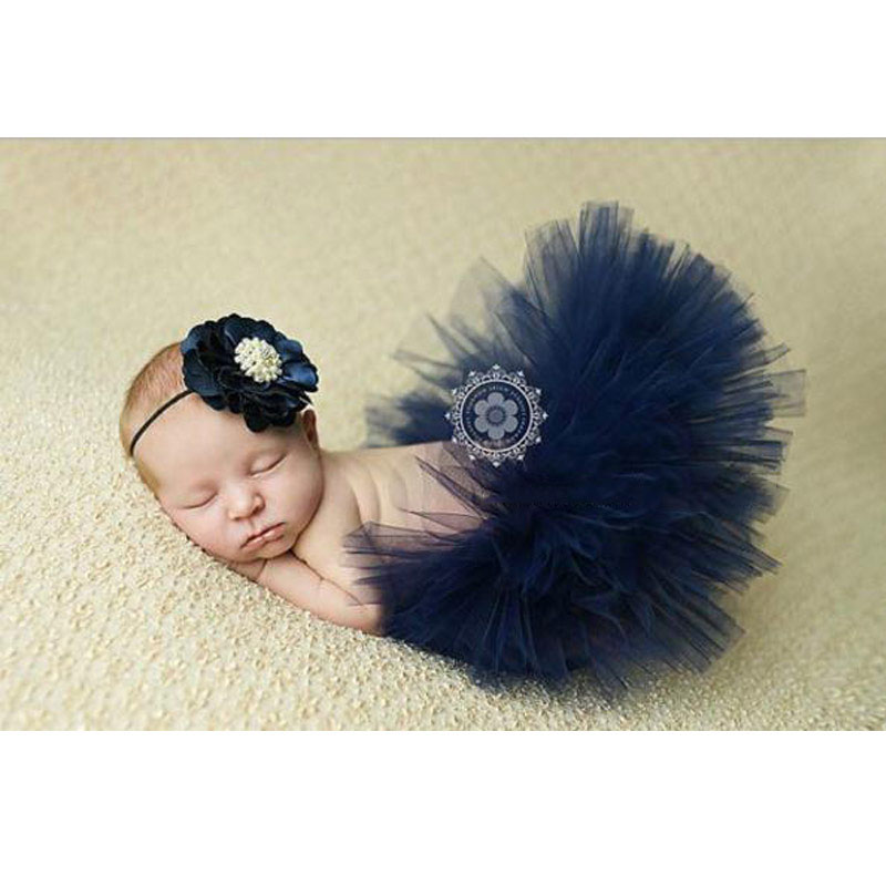 Реквизит для фотосессии новорожденных; юбка для девочек; юбка-пачка принцессы с бантом; фатиновая повязка на голову с цветочным рисунком; вязаная шапка для фотосессии - Цвет: 7